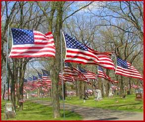 Parade of Flags, Oak Grove Cemetery, Detroit Lakes ...